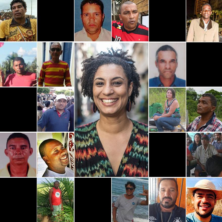 Não é só Marielle: conheça mais 24 casos de lideranças políticas mortas nos últimos quatro anos — Brasdangola Blogue